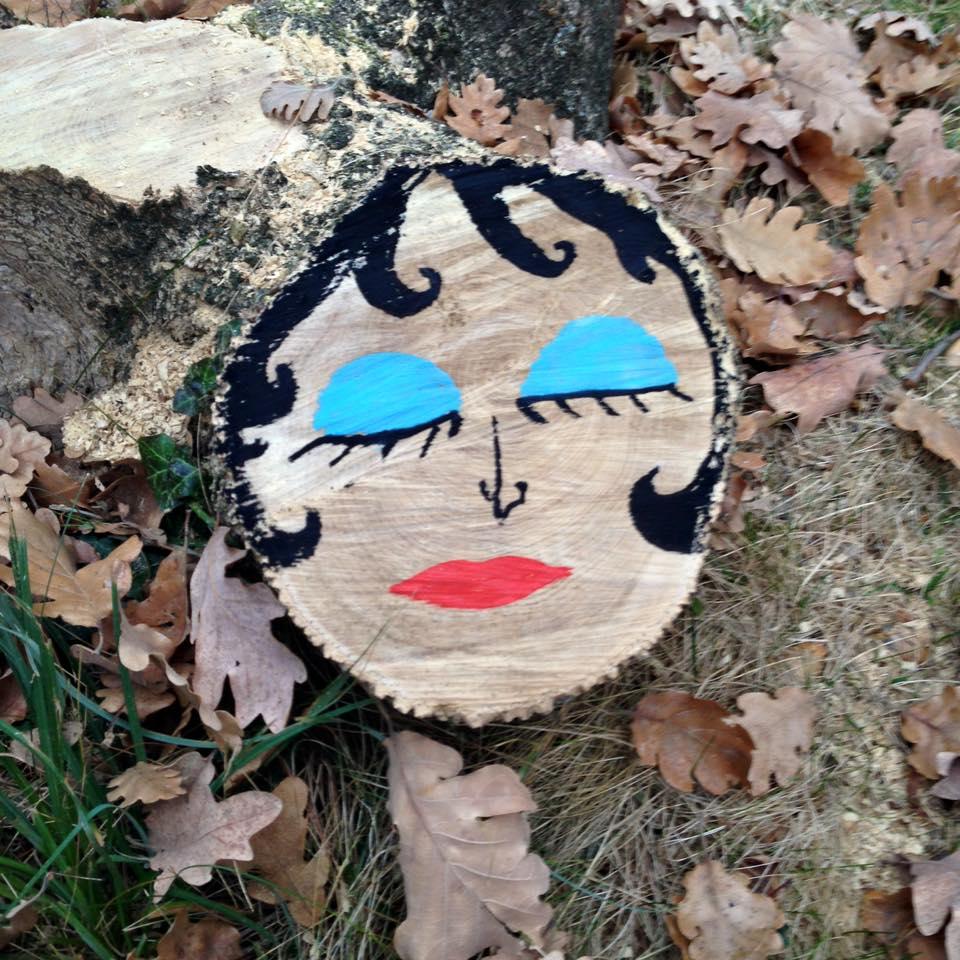 boomstam met een gezicht