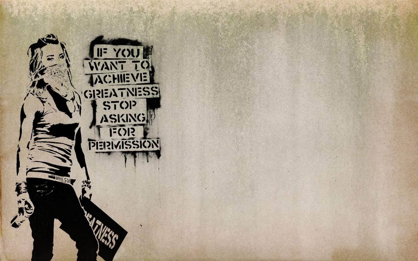 grootse dingen doe je zonder toestemming