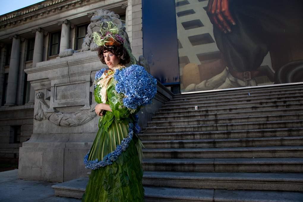 bloemen jurk in victoriaanse stijl