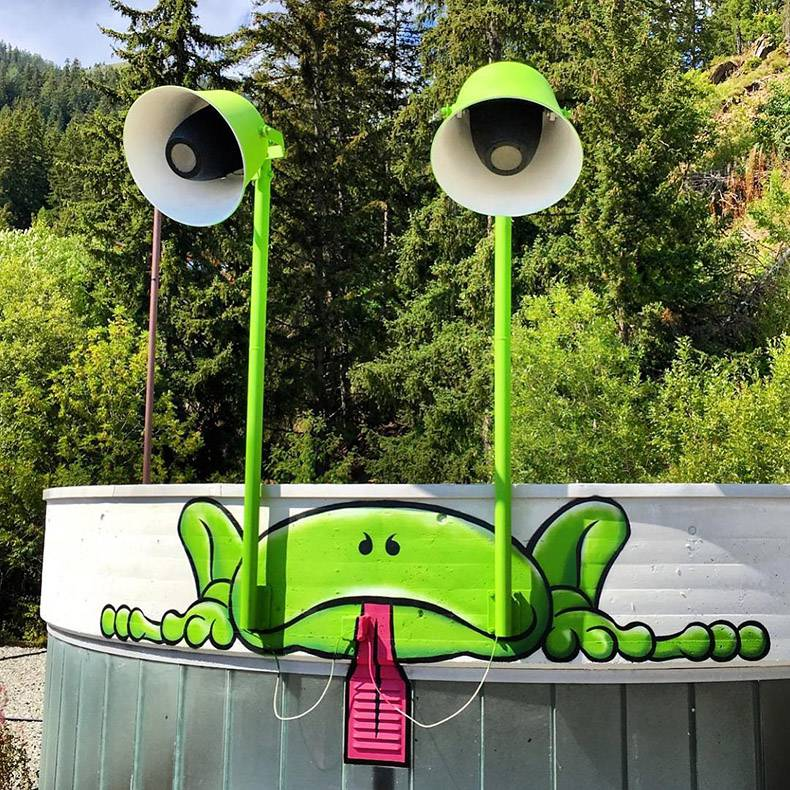 verlichtende kikker outdoor art