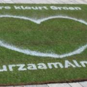 Plaatsing van boodschap duurzaam almere op mat